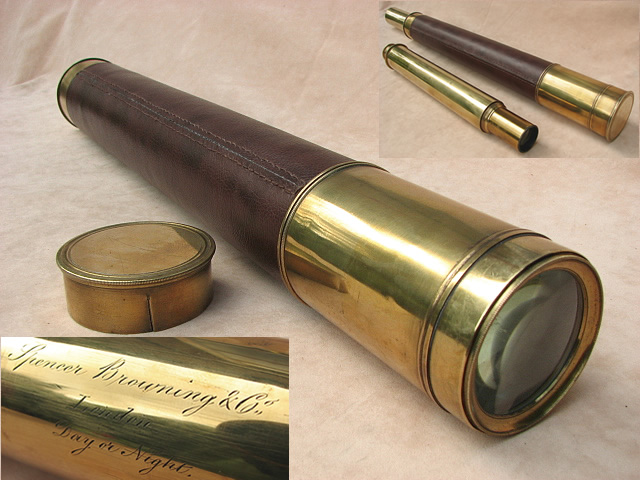 Mid 19th century Spencer Browning & Co, Day or Night ships telescope